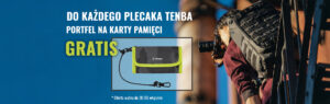 Do każdego plecaka TENBA portfel na karty pamięci gratis